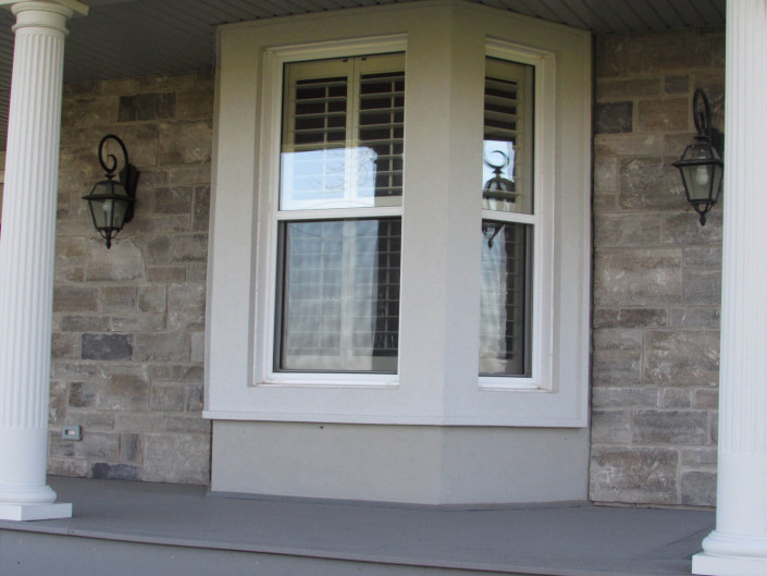 Exterior Renovation - Finished Porch with Window