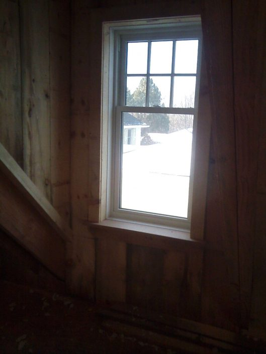 Second Story Addition - Inside Window