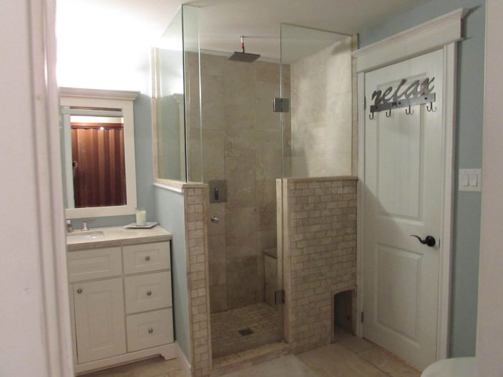 Bathroom Renovation One - Shower and Sink