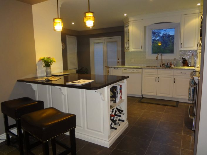 Kitchen Renovation Three - Island with Stools