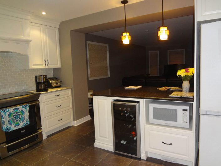 Kitchen Renovation Three - Island with Wine Cooler
